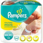 PAMPERS COUCHES NEW BABY MICRO 1-2,5 KG x 24 à Malakoff