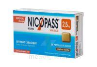 NICOPASS REGLISSE MENTHE 2,5 mg SANS SUCRE, pastille édulcorée à l'aspartam et à l'acésulfame potassique à Malakoff
