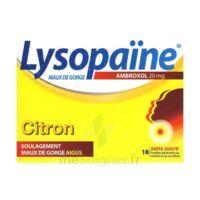 LYSOPAÏNE MAUX DE GORGE AMBROXOL CITRON 20 mg SANS SUCRE, pastille édulcorée au sorbitol et au sucralose à Malakoff