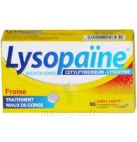 LYSOPAÏNE MAUX DE GORGE CETYLPYRIDINIUM LYSOZYME FRAISE SANS SUCRE, comprimé à sucer édulcoré au sorbitol et à la saccharine à Malakoff