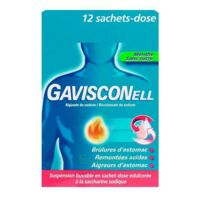 GAVISCONELL Suspension buvable sachet-dose menthe sans sucre 12Sach/10ml à Malakoff